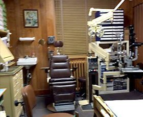 Eye checkup chair