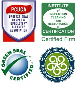 PCUCA - Institute of Inspection Cleaning and restoration - Green Seal Certified - The Carpet and Rug Institute Seal of Approval