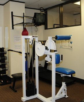 Chiropractic office gym