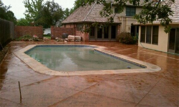 Residential Concrete Services Stained Concrete Wichita Ks