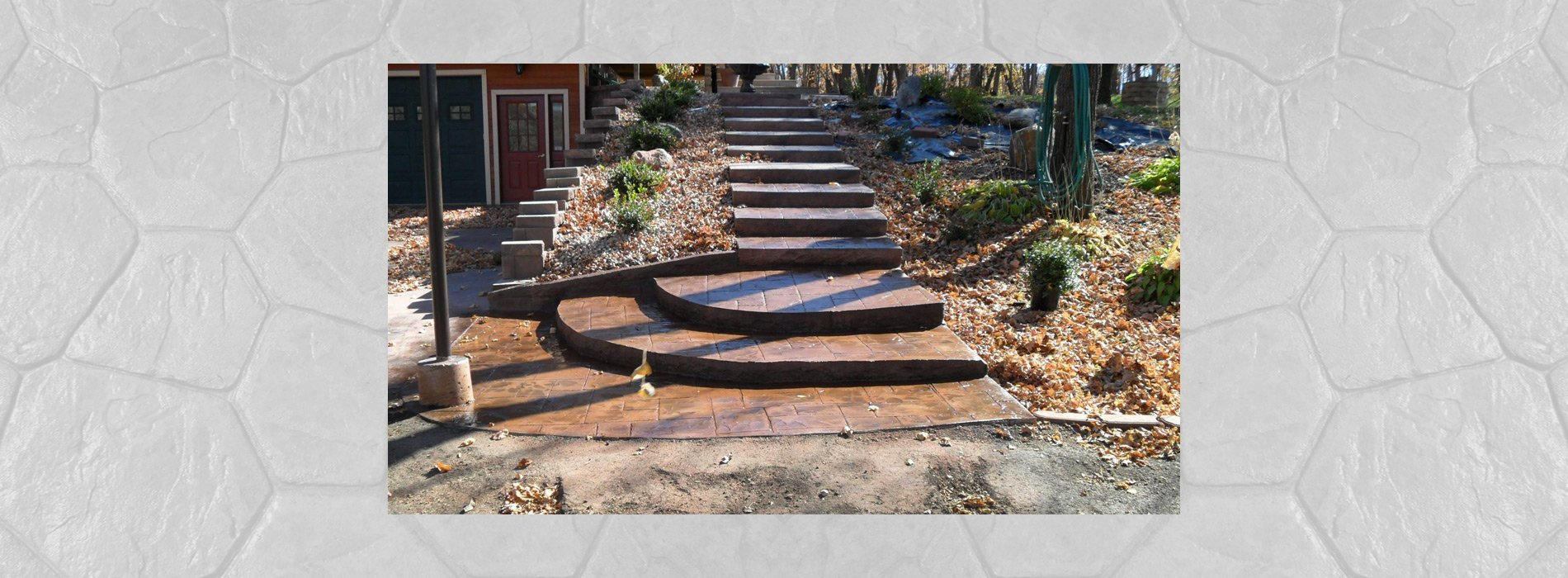 Concrete stamping stair