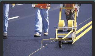 road asphalt striping