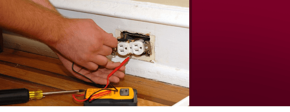 Electric outlet being repaired