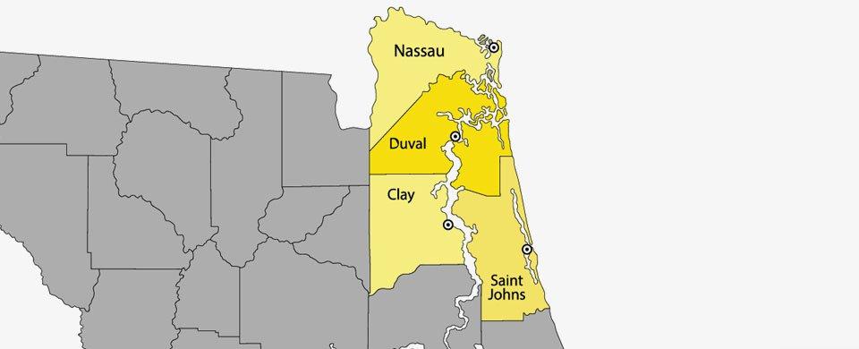 Paver Pro Jax Service Area Map
