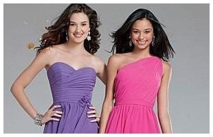 Teen girls wearing dress
