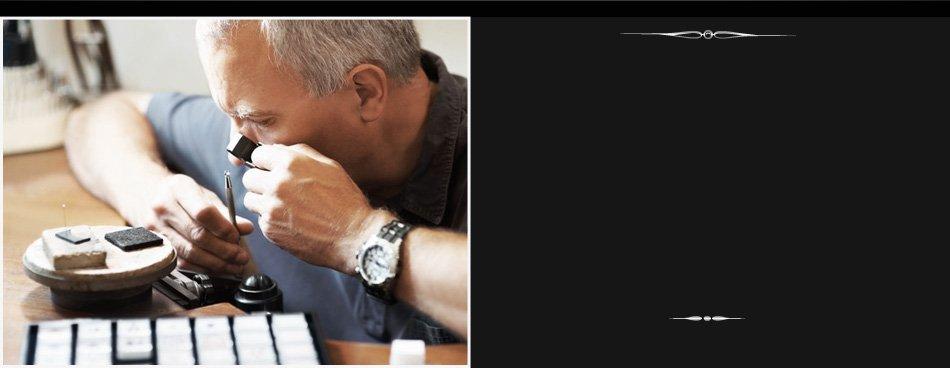 Man repairing jewelry