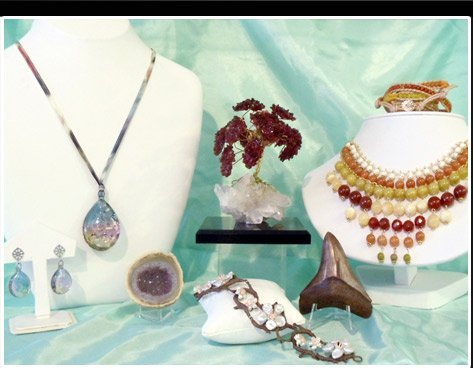 Several Semi-Precious and Stones Crafted Earrings, Pendants and Bracelets