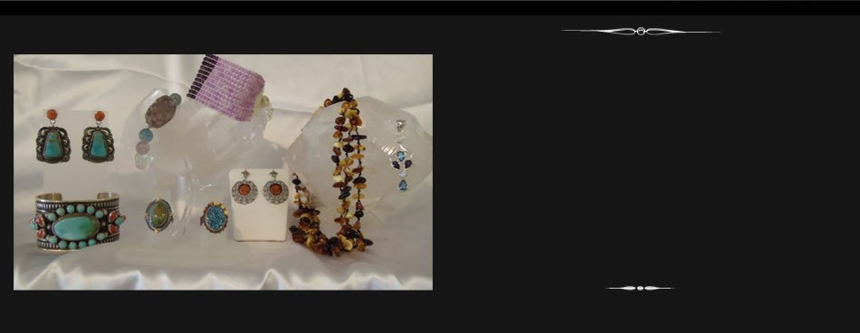 Gemstone Bracelets, Crystal Necklaces and Silver Earrings