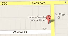 Crowder Funeral 401 Texas Ave., La Marque, TX 77568