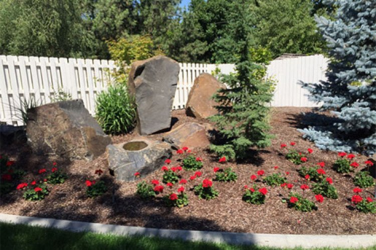 Landscape Boulders Spokane : Spokane landscaping maintenance valley wa