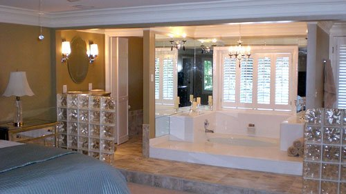 Glass Block Master Bath