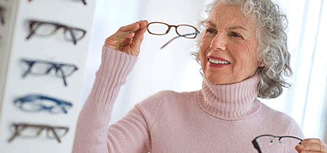 Woman with her new glasses