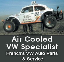 Auto Parts - Yucca Valley, CA  - French's VW Auto Parts & Service - Auto - Air Cooled VW Specialist