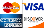 Fritzy's Pizza Accepts - Master Card, Visa, Amrican and Discover