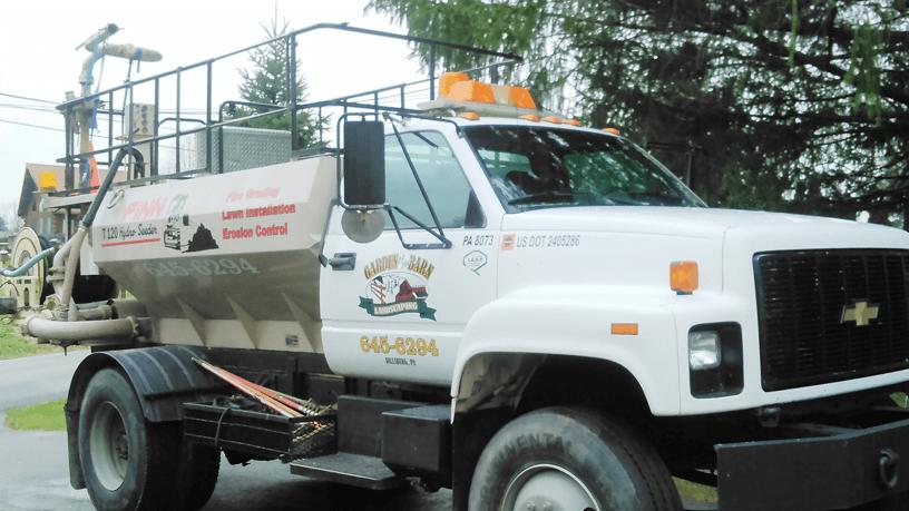 Hydro seed truck