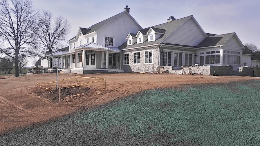Residential Hydro seeding
