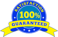 Satisfaction 100% Guaranteed Logo
