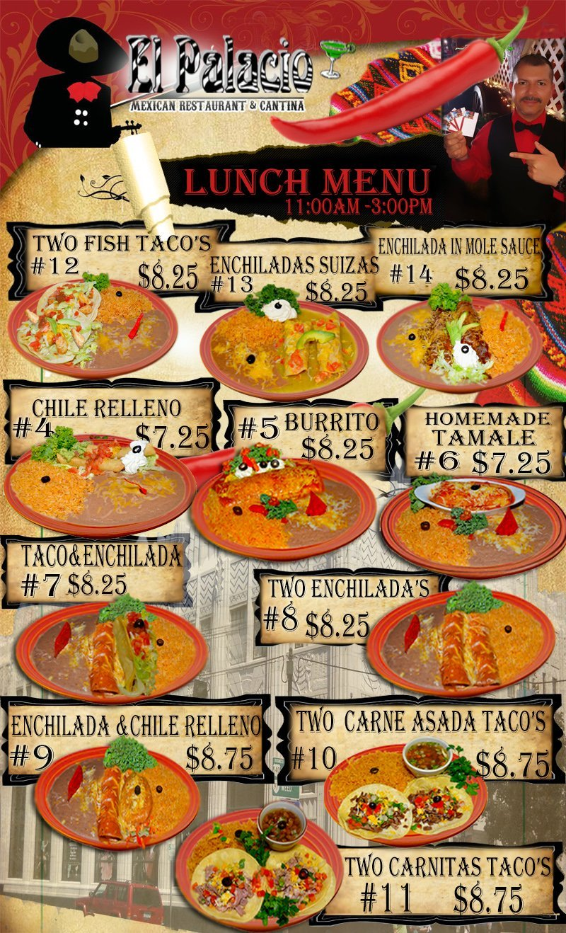 Combination Platters | Klamath Falls, OR | El Palacio | 541-882-5118