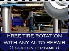 Auto Repair - Neptune, NJ - Mike's Auto Repair, LLC - auto repair - Free tire rotation with any auto repair (1 coupon per family)