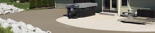 Sidewalk concrete application