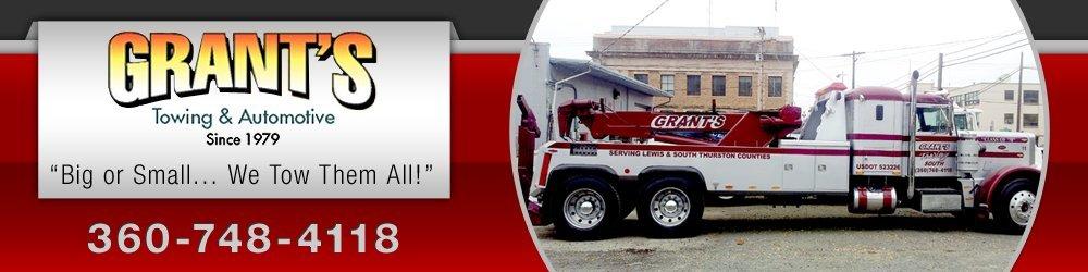 Towing Company  - Chehalis, WA - Grant's Towing & Automotive