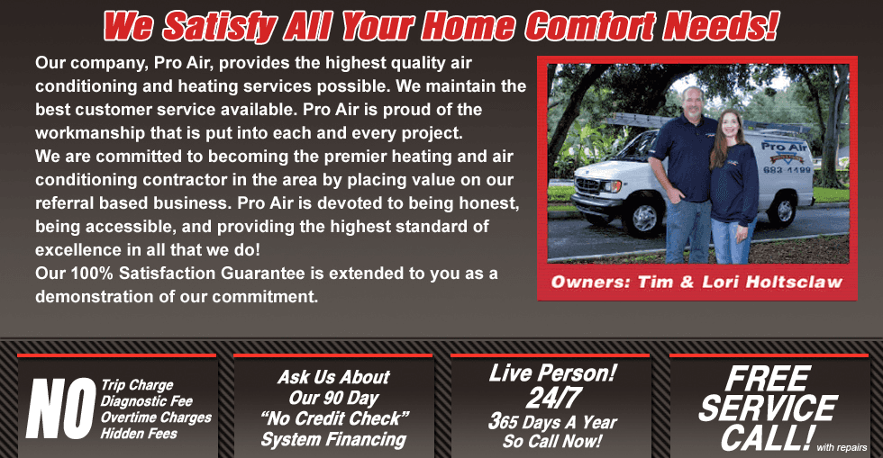 HVAC contractor | Lakeland, FL | Pro Air Cooling & Heating | 863-683-4499