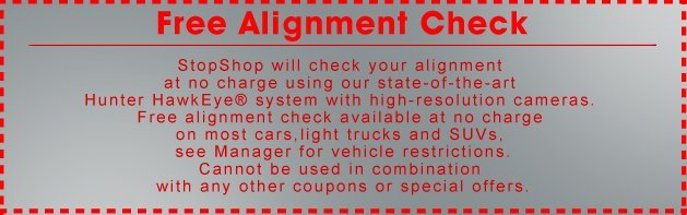 StopShop Brakes & Auto Care Coupon