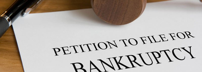 Closeup of Petition to File for Bankruptcy document