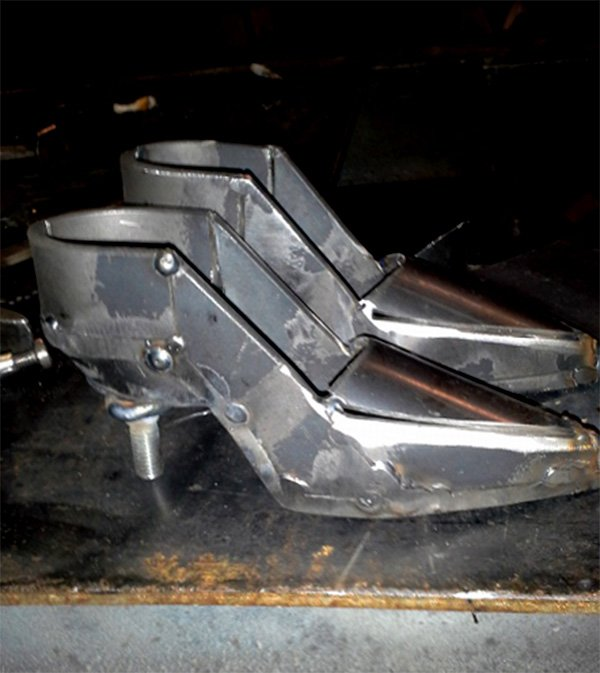 Metal Statue Shoes