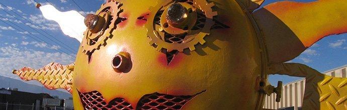 Sun Metal Statue