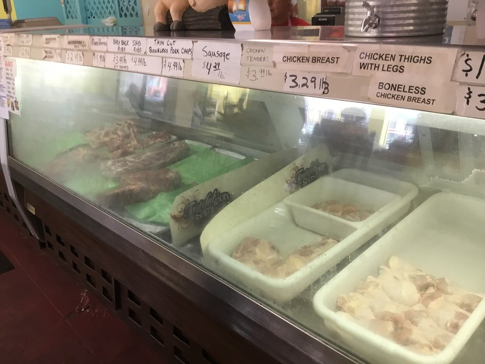 Meats display