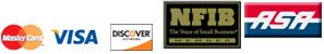 Credit Card Logos - NFIB and ASA logos