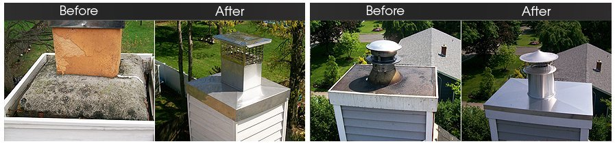 Bohemia, NY - A Sweep Above - Chimney Waterproofing | Fireplace Dampers | Chimney Cap Replacement