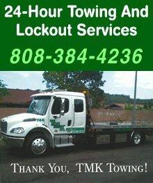 Auto Towing Services - Kaneohe, HI - TMK Towing LLC