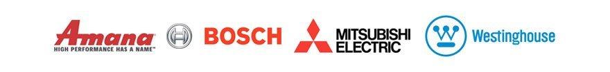Amana,  Bosch, Mitsubishi, Westinghouse