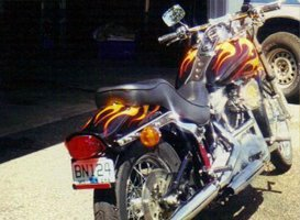 Custom Painting - Eaton, OH - Renewed Image LLC - black big bike
