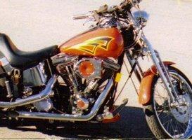 Custom Painting - Eaton, OH - Renewed Image LLC - orange big bike