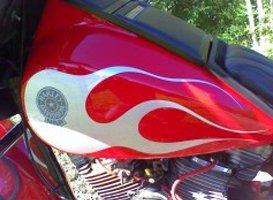 Custom Painting - Eaton, OH - Renewed Image LLC - red motorcycle