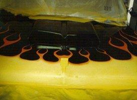 Custom Painting - Eaton, OH - Renewed Image LLC - custom flames