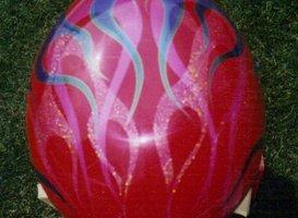 Custom Painting - Eaton, OH - Renewed Image LLC - red helmet