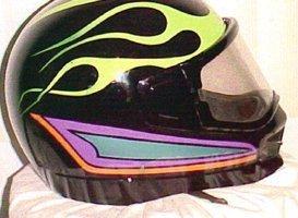 Custom Painting - Eaton, OH - Renewed Image LLC - black helmet