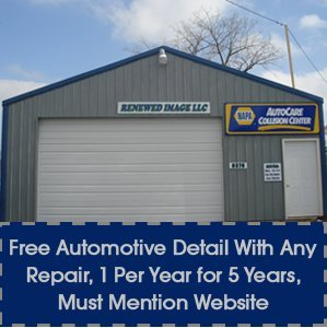 Collision Repair - Eaton, OH - Renewed Image LLC - shop - Free Automotive Detail With Any Repair, 1 Per Year for 5 Years, Must Mention Website