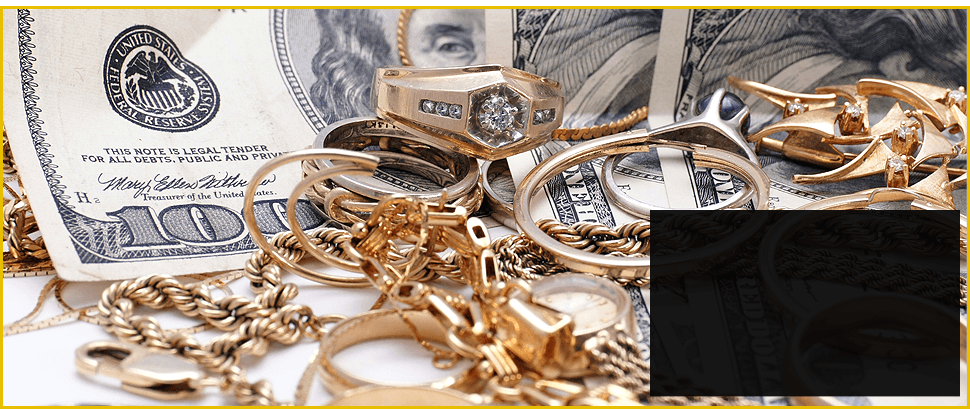 Valuable Golden Jewelries with Dollar Money