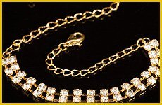 Precious Decorated Gold Necklace with Diamonds