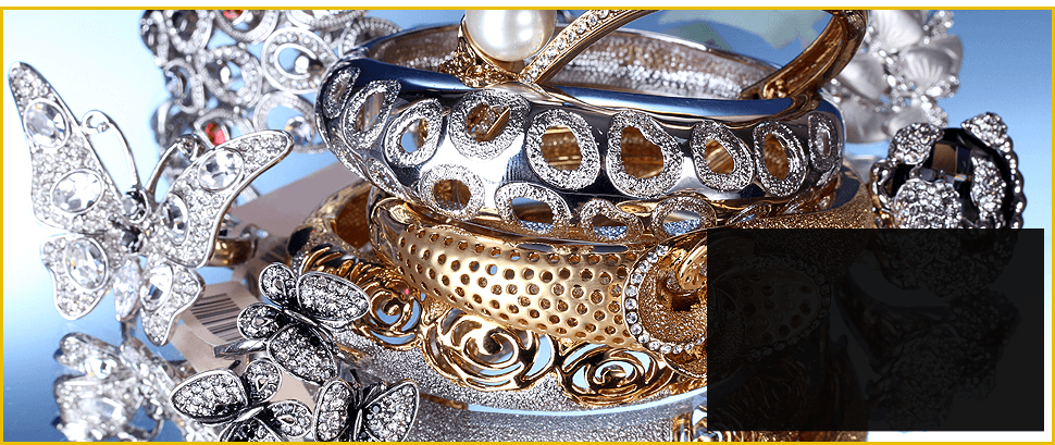 Beautiful silver and gold bracelets
