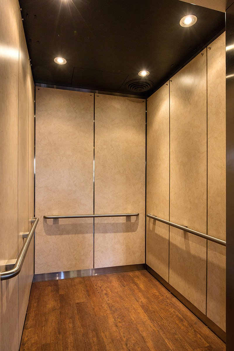 Sterling Corporate Custom Elevator Interiors National City