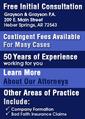 Malpractice and Personal Injury - Heber Springs, AR - Grayson & Grayson, P.A.