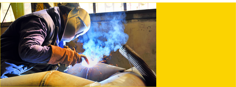 Welding large pipe