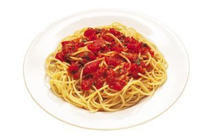 Pasta in meaty red sauce