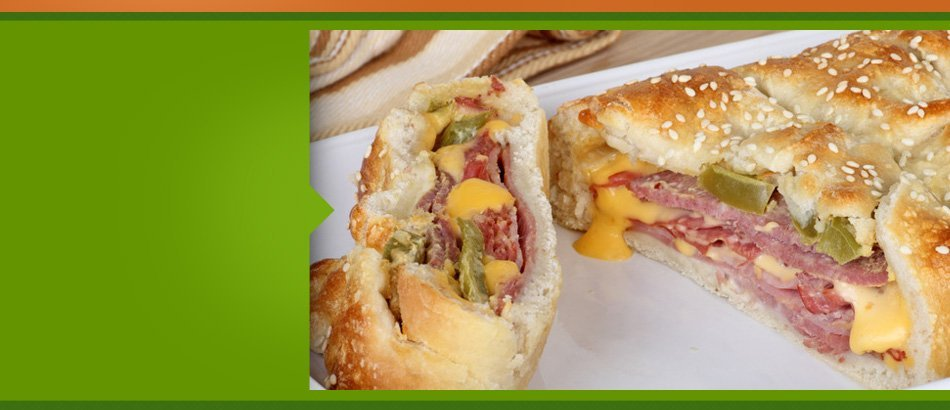 Mouth watering stromboli